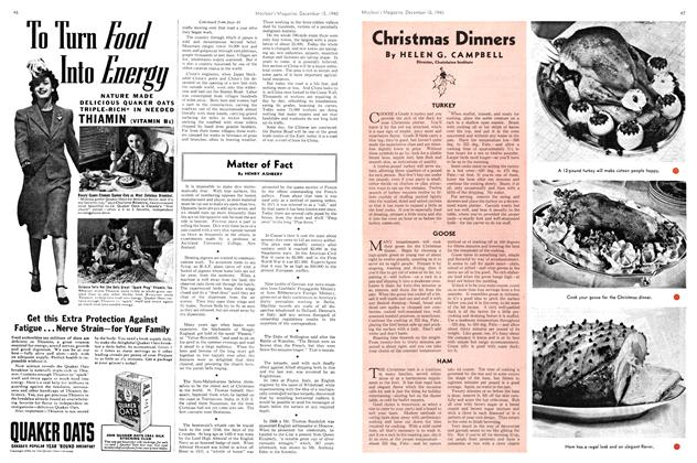 Article Preview: Christmas Dinners, December 1940 | Maclean's