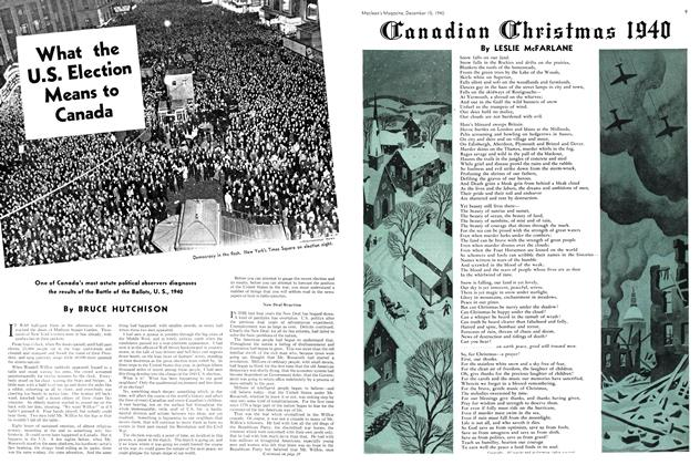 Article Preview: What the U.S. Election Means to Canada, December 1940 | Maclean's
