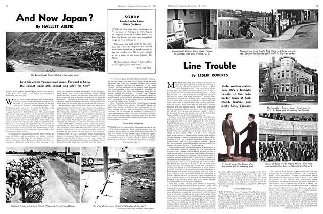 Article Preview: Line Trouble, December 1940 | Maclean's