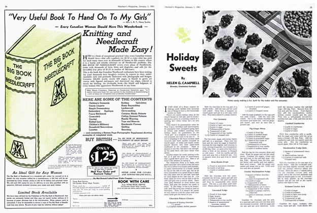 Article Preview: Holiday Sweets, January 1941 | Maclean's