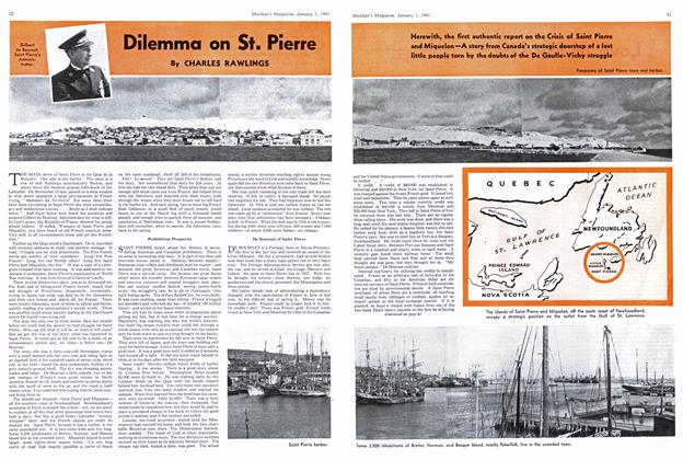 Article Preview: Dilemma on St. Pierre, January 1941 | Maclean's