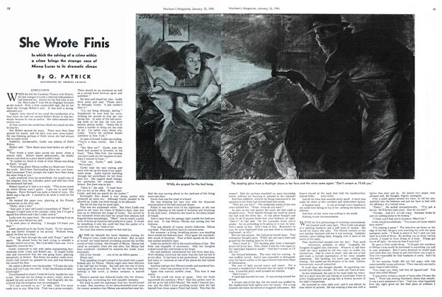 Article Preview: She Wrote Finis, January 1941 | Maclean's