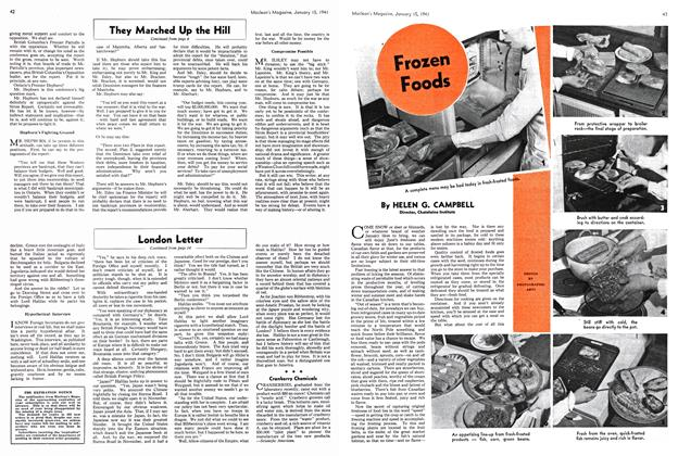 Article Preview: Frozen Foods, January 1941 | Maclean's