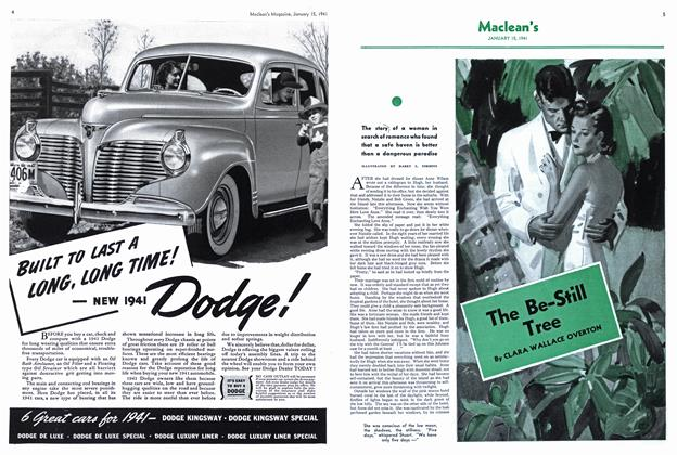 Article Preview: The Be-Still Tree, January 1941 | Maclean's