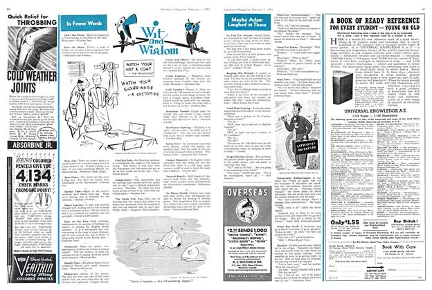Article Preview: Wit and Wisdom, February 1941 | Maclean's