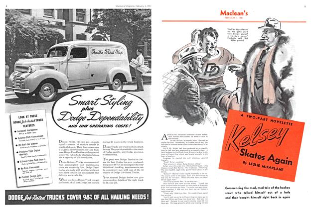 Article Preview: Kelsey Skates Again, February 1941 | Maclean's