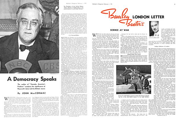 Article Preview: A Democracy Speaks, February 1941 | Maclean's