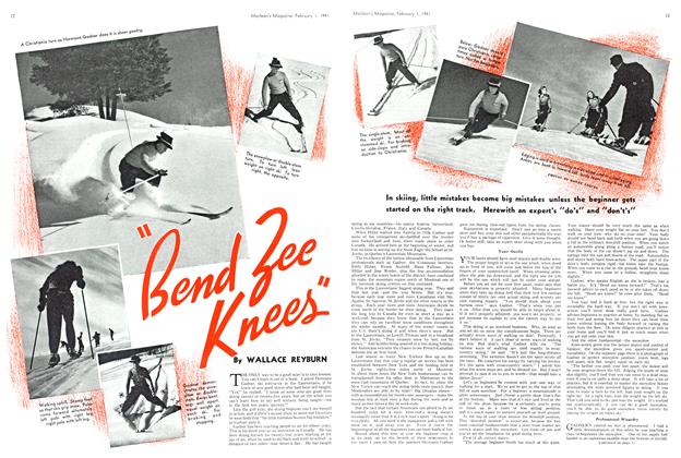 """Article Preview: """"Bend Zee Knees"""", February 1941 