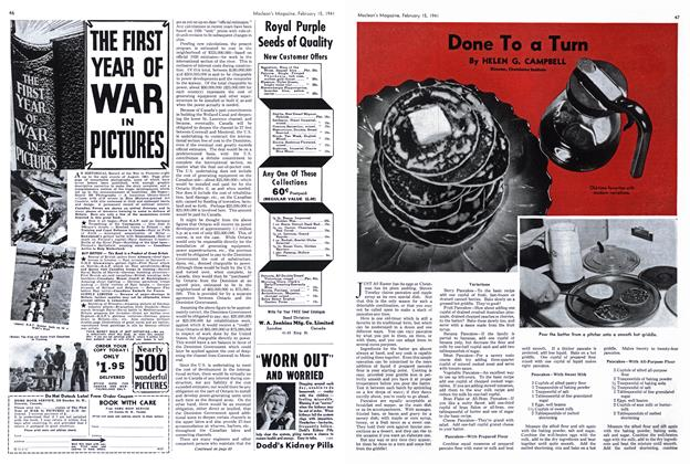 Article Preview: Done To a Turn, February 1941 | Maclean's