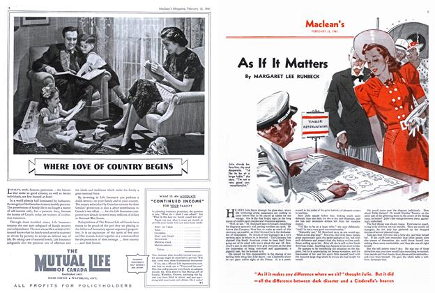 Article Preview: As If It Matters, February 1941 | Maclean's
