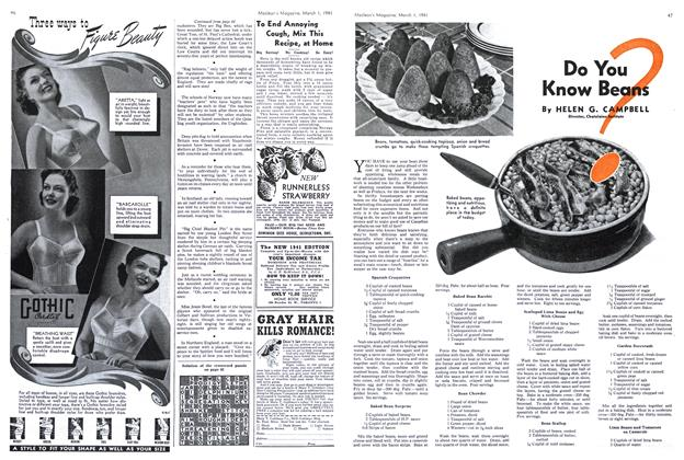 Article Preview: Do You Know Beans, March 1941 | Maclean's