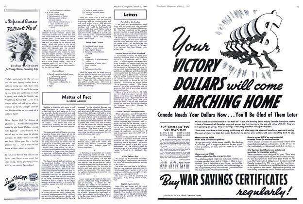 Article Preview: Matter of Fact, March 1941 | Maclean's