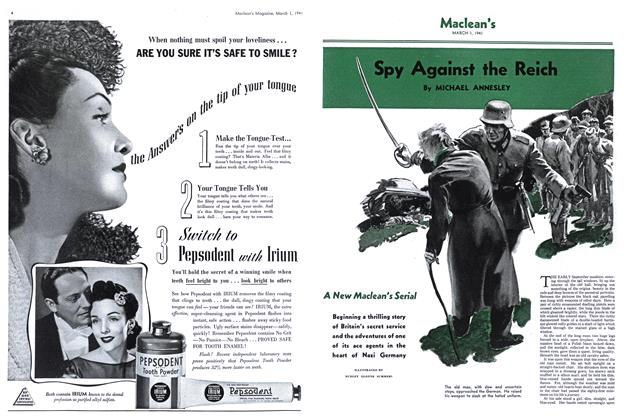 Article Preview: Spy Against the Reich, March 1941 | Maclean's