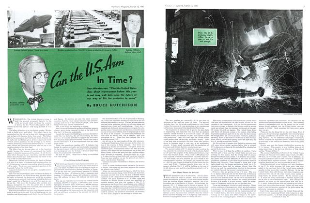 Article Preview: Can the U.S.Arm In Time ?, March 1941 | Maclean's