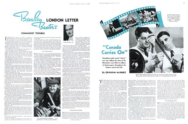 Article Preview: LONDON LETTER Communite Trouble, March 1941 | Maclean's