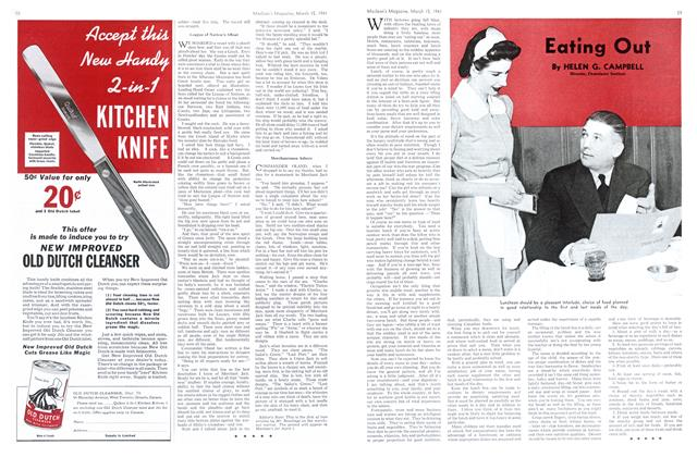 Article Preview: Eating Out, March 1941 | Maclean's