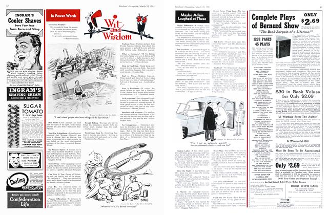 Article Preview: Wit and Wisdom, March 1941 | Maclean's