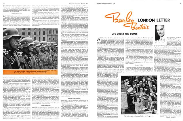 Article Preview: LONDON LETTER LIFE UNDER THE BOMBS, April 1941 | Maclean's