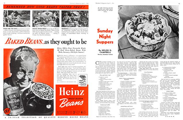 Article Preview: Sunday Night Suppers, April 1941 | Maclean's