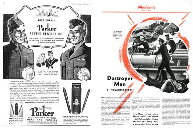 Article Preview: Destroyer Man, April 1941 | Maclean's