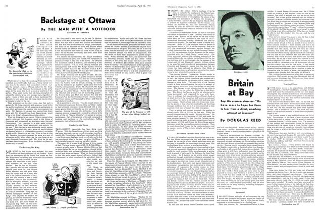 Article Preview: Backstage at Ottawa, April 1941 | Maclean's