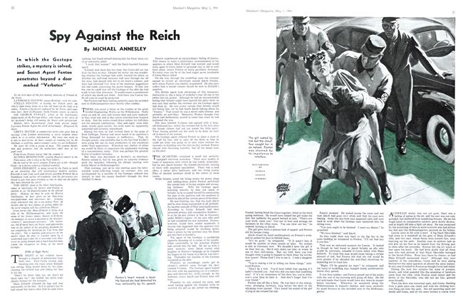 Article Preview: Spy Against the Reich, May 1941 | Maclean's
