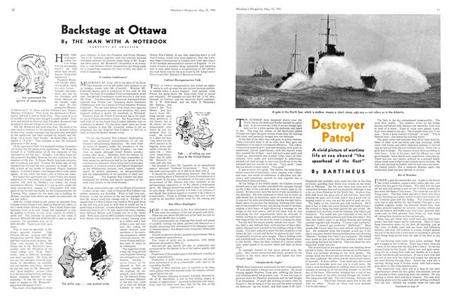 Article Preview: Backstage at Ottawa, May 1941 | Maclean's