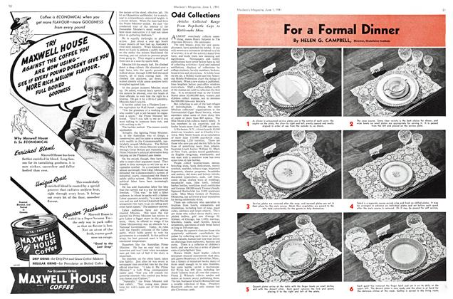 Article Preview: For a Formal Dinner, June 1941 | Maclean's