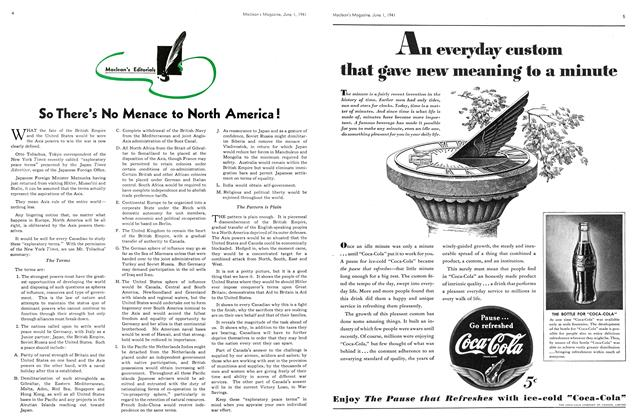 Article Preview: So There's No Menace to North America !, June 1941 | Maclean's