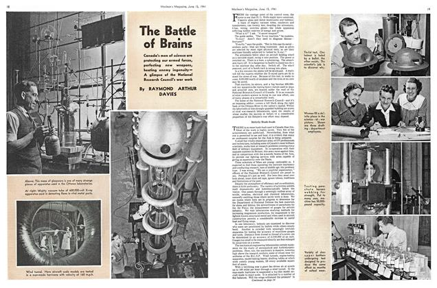 Article Preview: The Battle of Brains, June 1941 | Maclean's