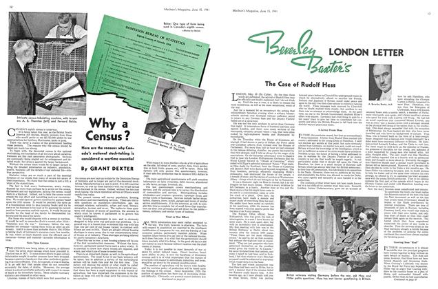 Article Preview: Why a Census?, June 1941 | Maclean's