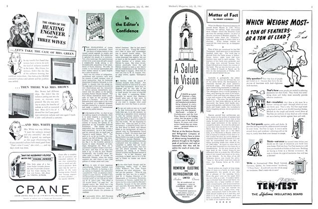 Article Preview: In the Editor's Confidence, July 1941 | Maclean's
