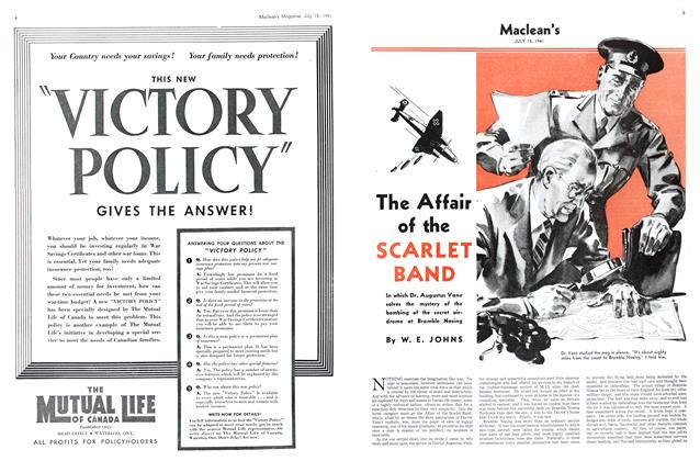 Article Preview: The Affair of the SCARLET BAND, July 1941 | Maclean's