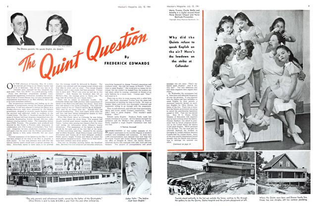 Article Preview: The Quint Question, July 1941 | Maclean's