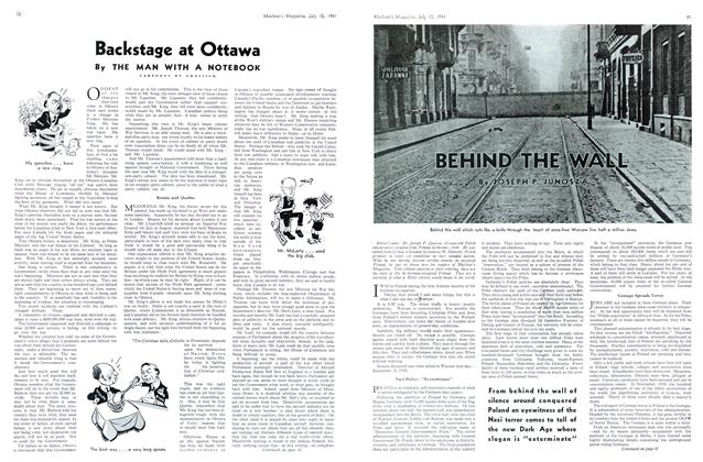Article Preview: Backstage at Ottawa, July 1941 | Maclean's