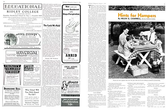 Article Preview: Hints for Hampers, August 1941 | Maclean's
