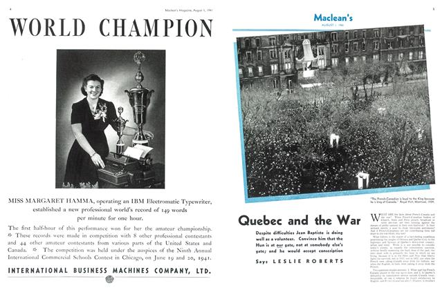 Article Preview: Quebec and the War, August 1941 | Maclean's