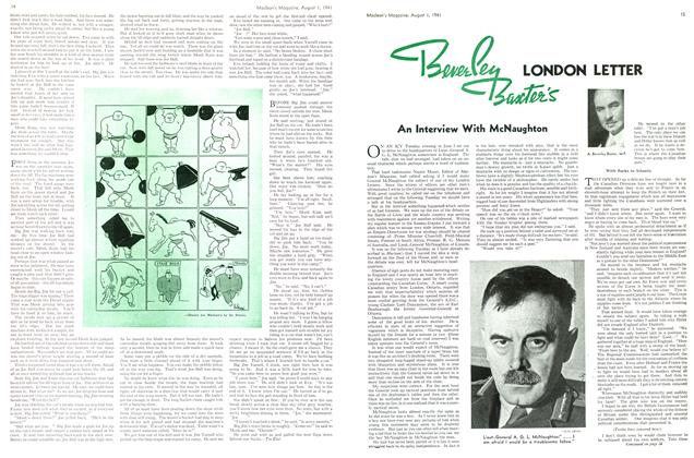 Article Preview: Beverley Baxter's LONDON LETTER, August 1941 | Maclean's