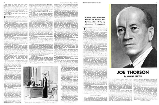 Article Preview: JOE THORSON, TORONTO AUGUST 15 1941 1941 | Maclean's