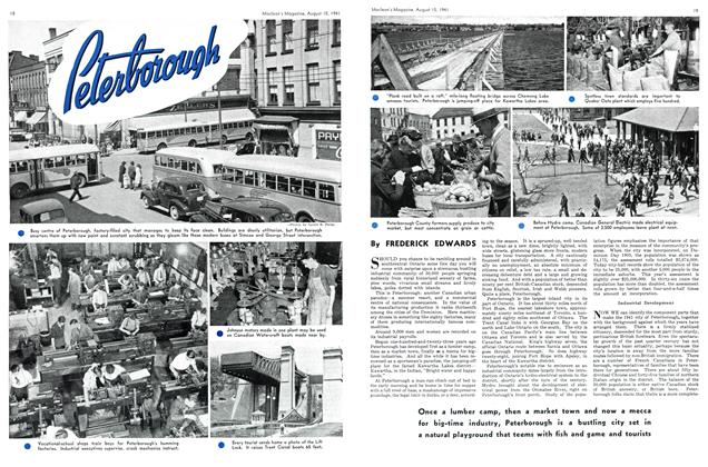 Article Preview: Peterborough, TORONTO AUGUST 15 1941 1941 | Maclean's