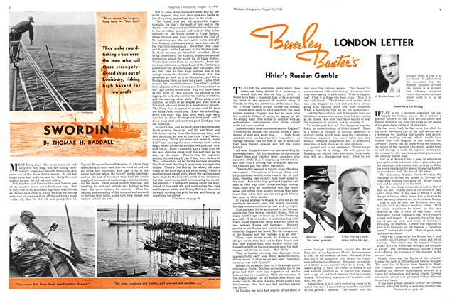 Article Preview: SWORDIN', TORONTO AUGUST 15 1941 1941 | Maclean's