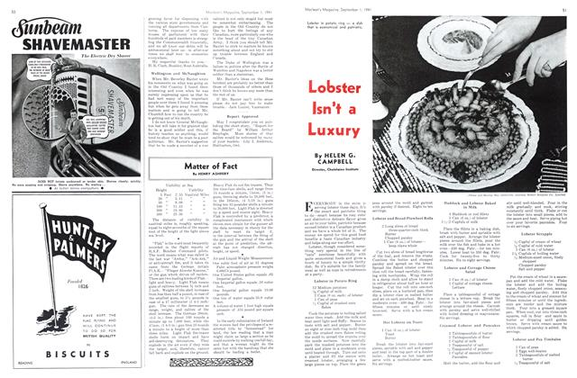 Article Preview: Lobster Isn't a Luxury, September 1941 | Maclean's