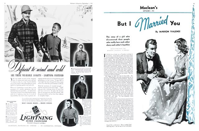 Article Preview: But I Married You, September 1941 | Maclean's