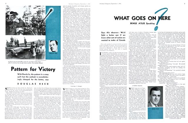 Article Preview: WHAT GOES ON HERE, September 1941 | Maclean's