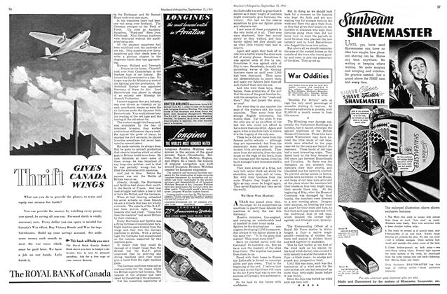 Article Preview: War Oddities, September 1941 | Maclean's