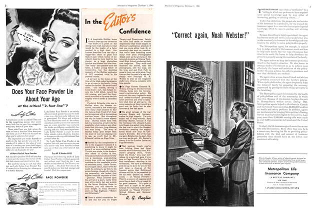 Article Preview: In the Editor's Confidence, October 1941 | Maclean's
