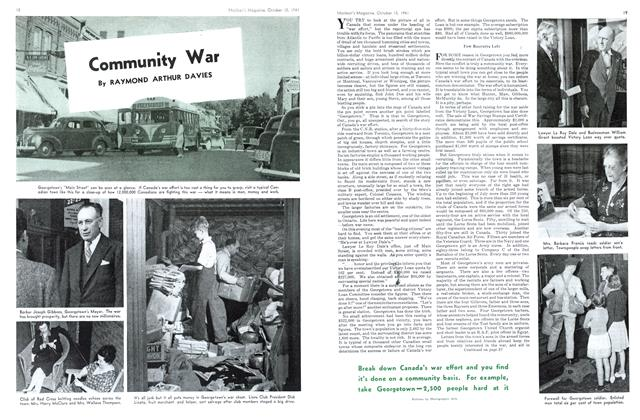 Article Preview: Community War, October 1941 | Maclean's