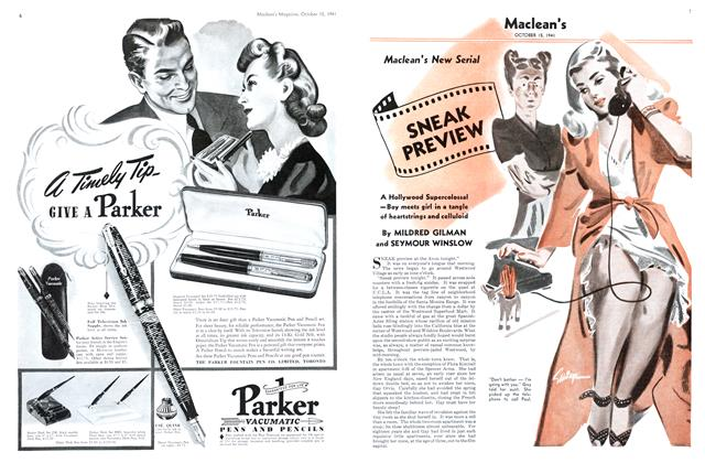 Article Preview: SNEAK PREVIEW, October 1941 | Maclean's