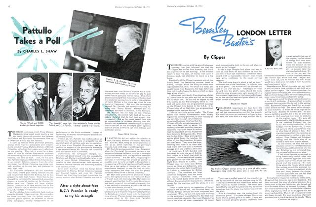 Article Preview: Beverley Baxter's LONDON LETTER, October 1941 | Maclean's