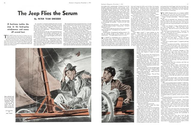 Article Preview: The Jeep Flies the Serum, November 1941 | Maclean's